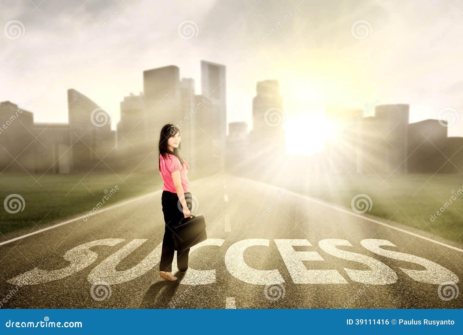 Aantrekkelijke onderneemster die succes zoeken