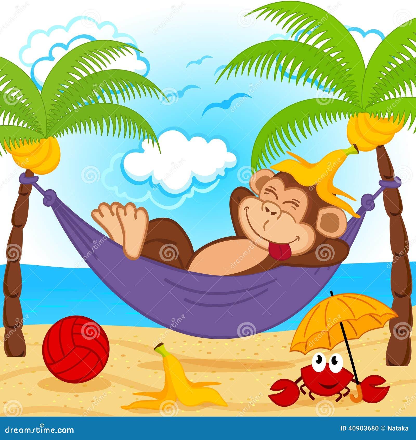 aap op hangmat vector illustratie afbeelding bestaande baby monkey clipart png baby monkey clip art images