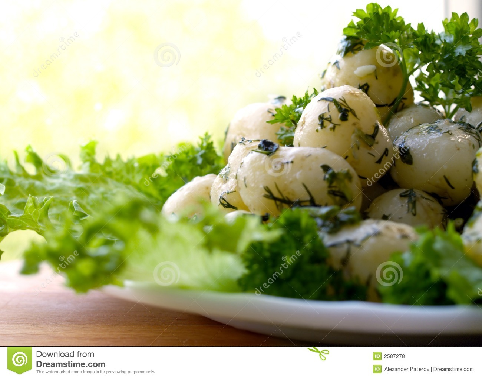 Aardappels met kruiden
