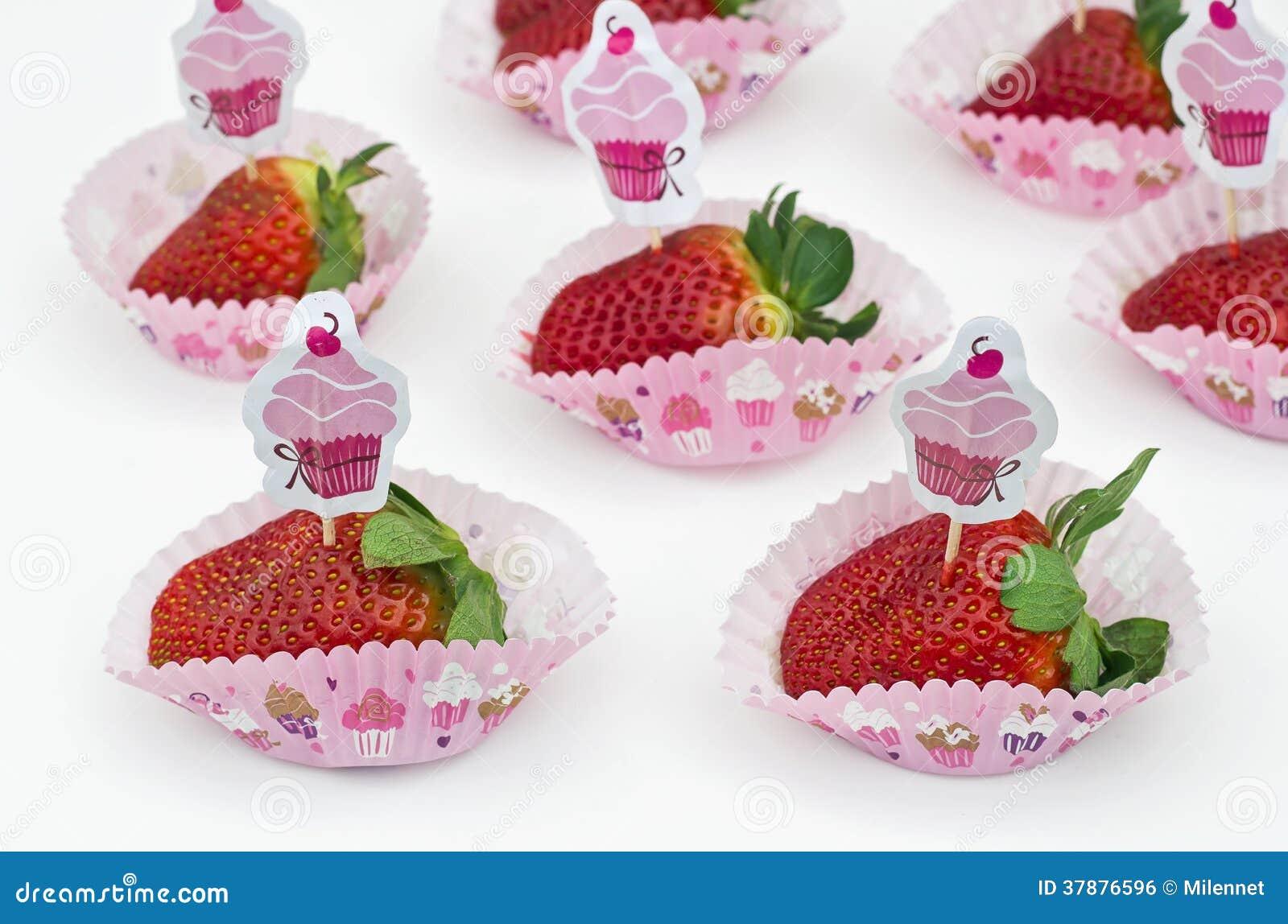 Aardbeien - Cupcakes