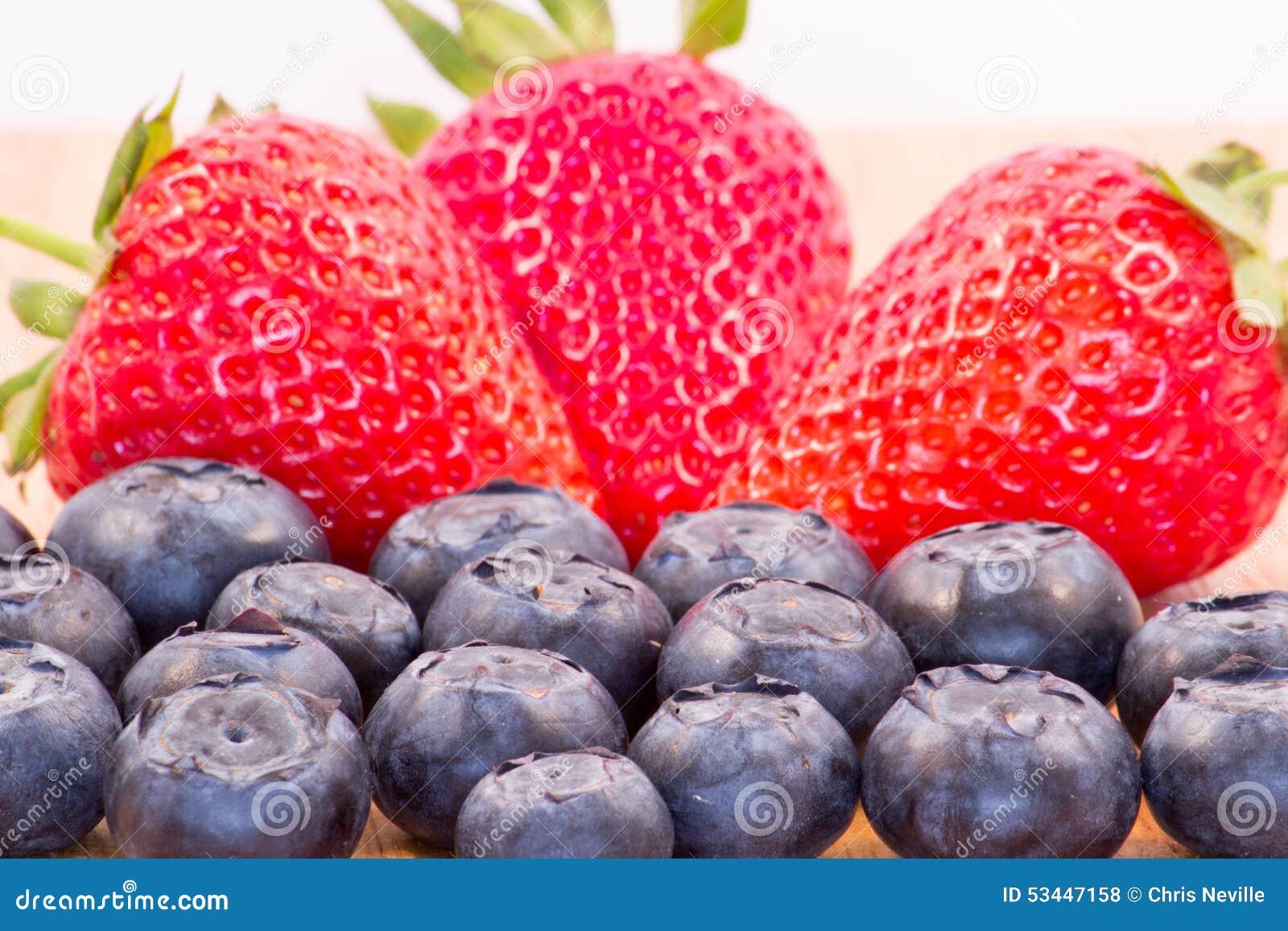 Aardbeien en Bosbessen
