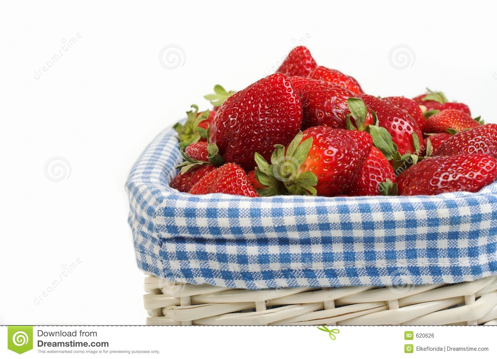 Aardbeien in mand