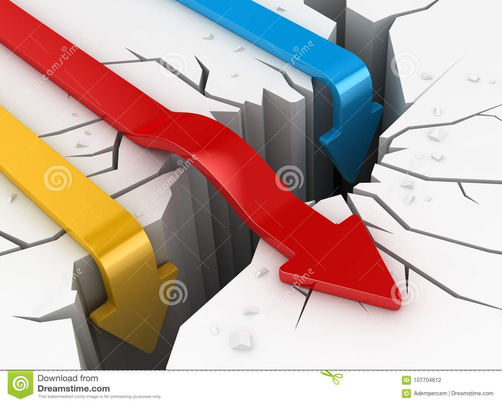 Download Aardbeving En Kleurrijke Pijlen Stock Illustratie - Illustratie bestaande uit hindernis, ramp: 107704612
