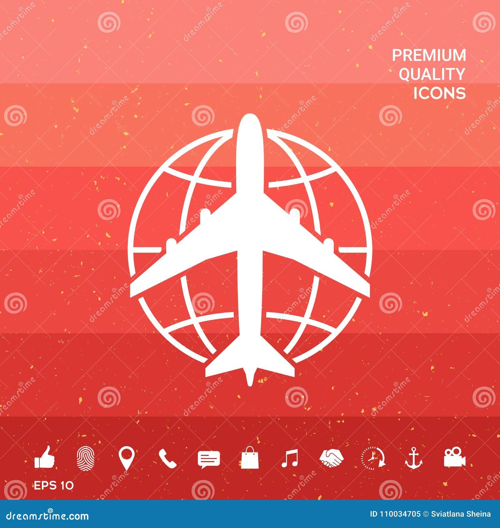 Aarde en Vliegtuigembleem