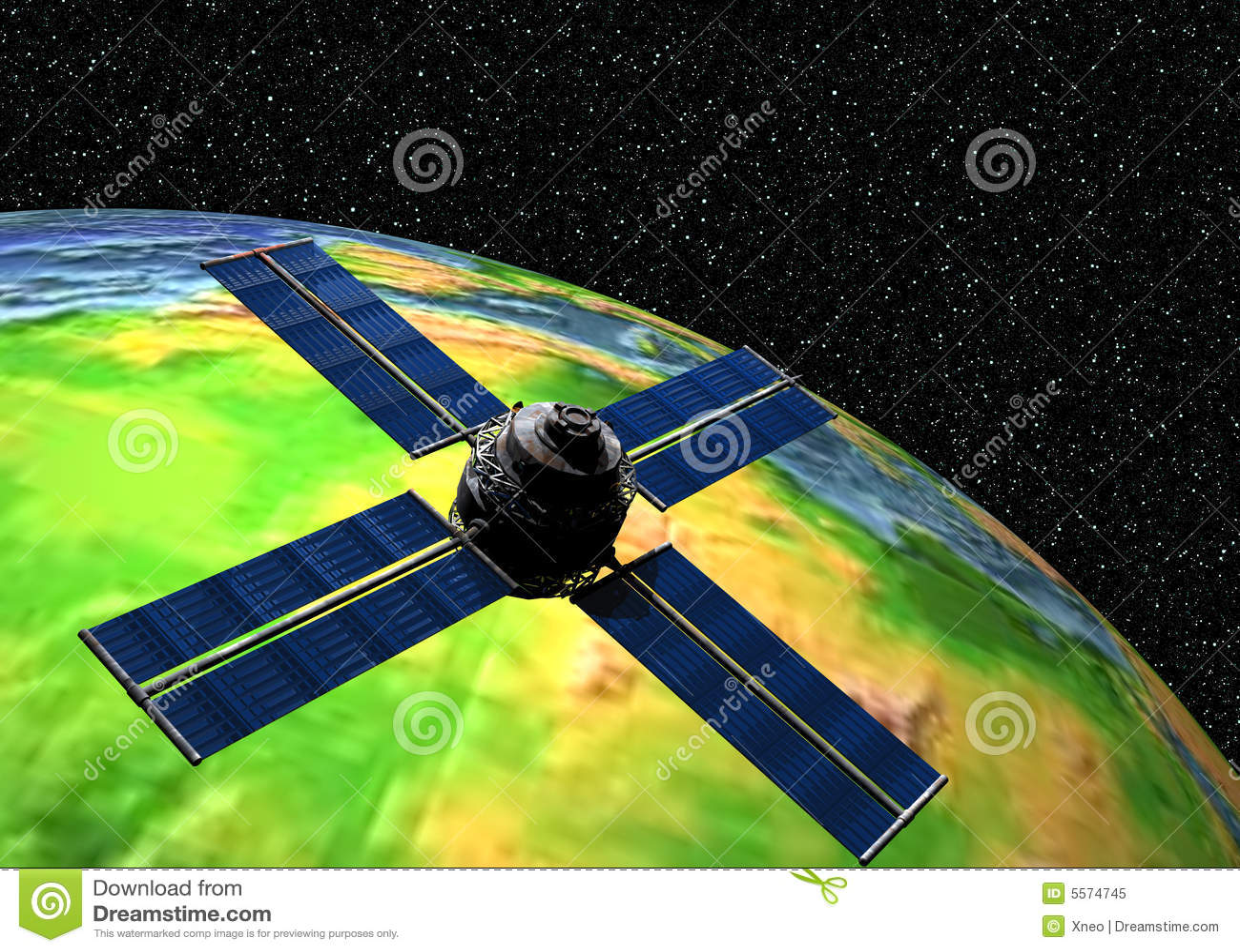 Aarde met Satelliet