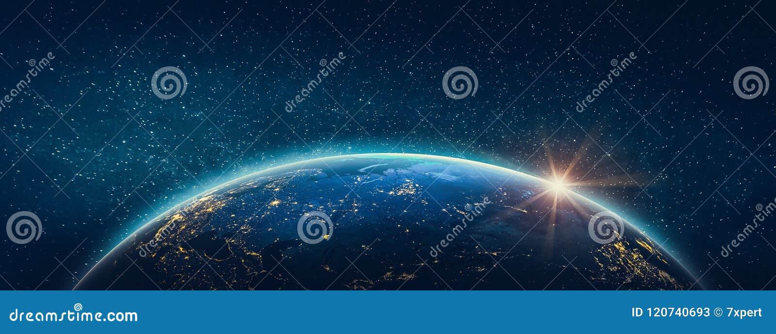 Aarde - Rusland Elementen van dit die beeld door NASA wordt geleverd