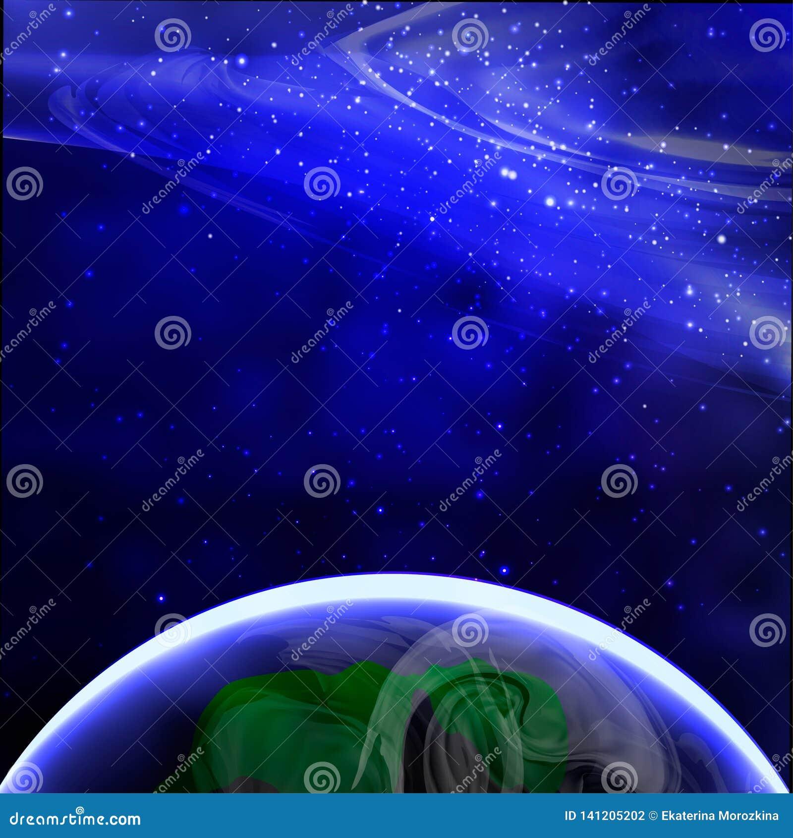 Aarde zoals die van ruimte wordt gezien