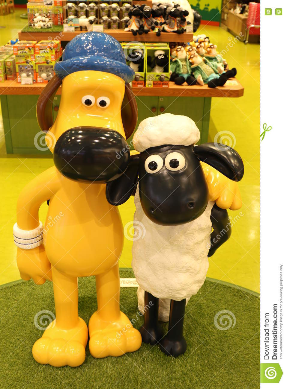 Download Aardmans Shaun The Sheep Characters On Display At Expocity Editorial Stock Photo
