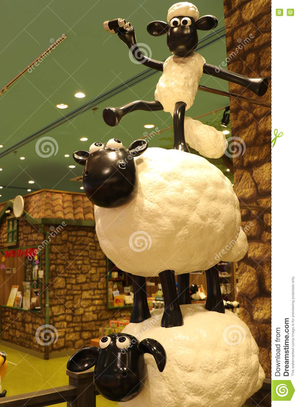 Aardmans Shaun The Sheep Characters On Display At Expocity