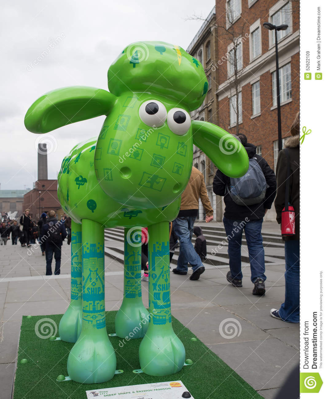 Download Aardmens Shaun The Sheep Characters On Display Around London Editorial Stock Image