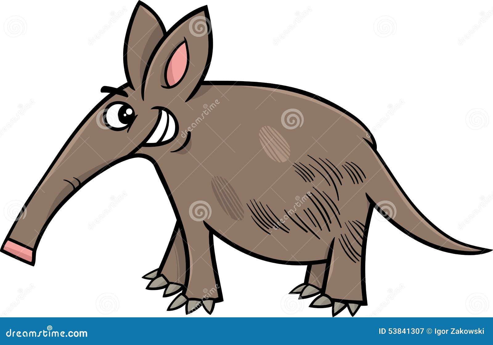 Aardvark Animal Cartoon Illustration Stock Vector - Image: 53841307