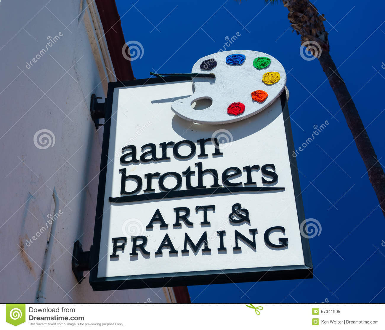 Aaron Brothers Art And Framing Store And Sign Editorial Image ...