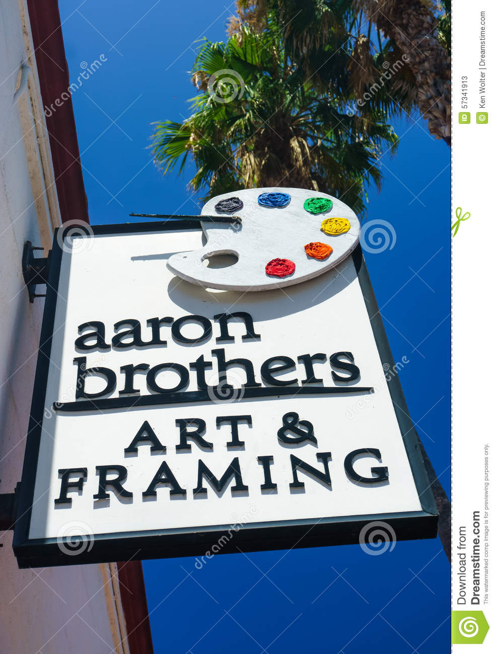 Aaron Brothers Art And Framing Store And Sign Editorial Stock Photo ...