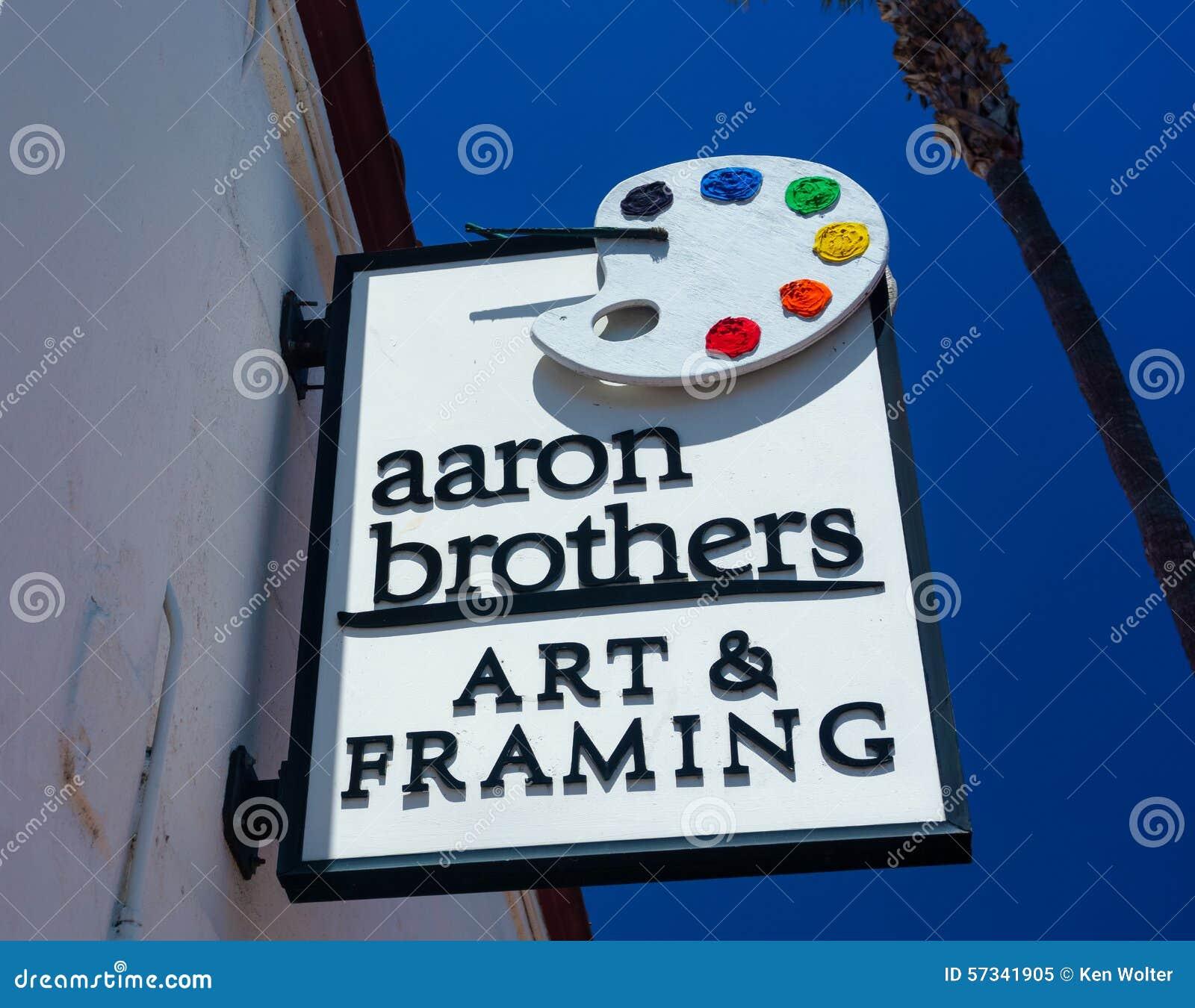 Aaron Brothers Art Y Tienda Y Muestra Que Enmarcan Imagen editorial ...