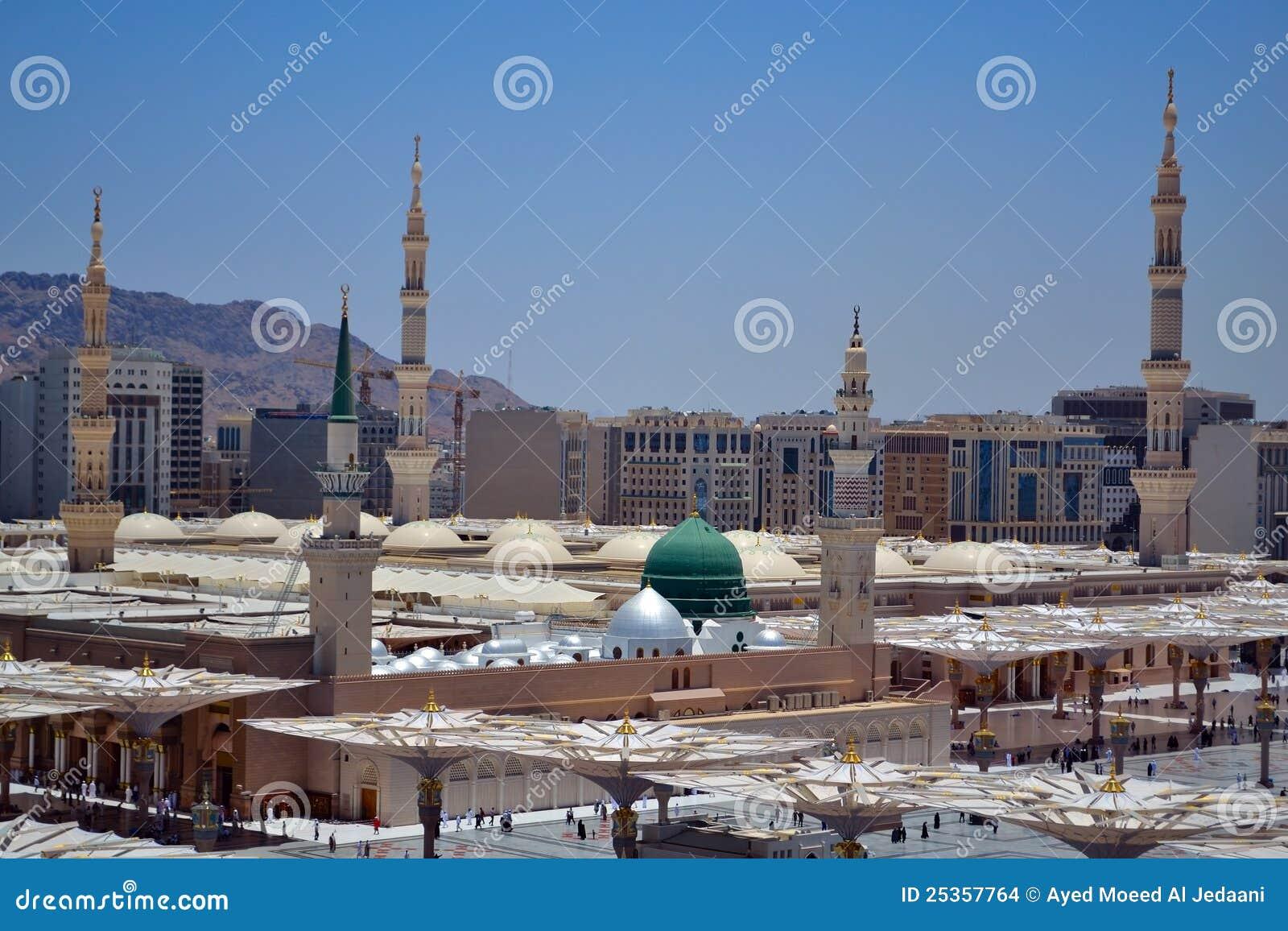 Abóbada do verde da mesquita do profeta
