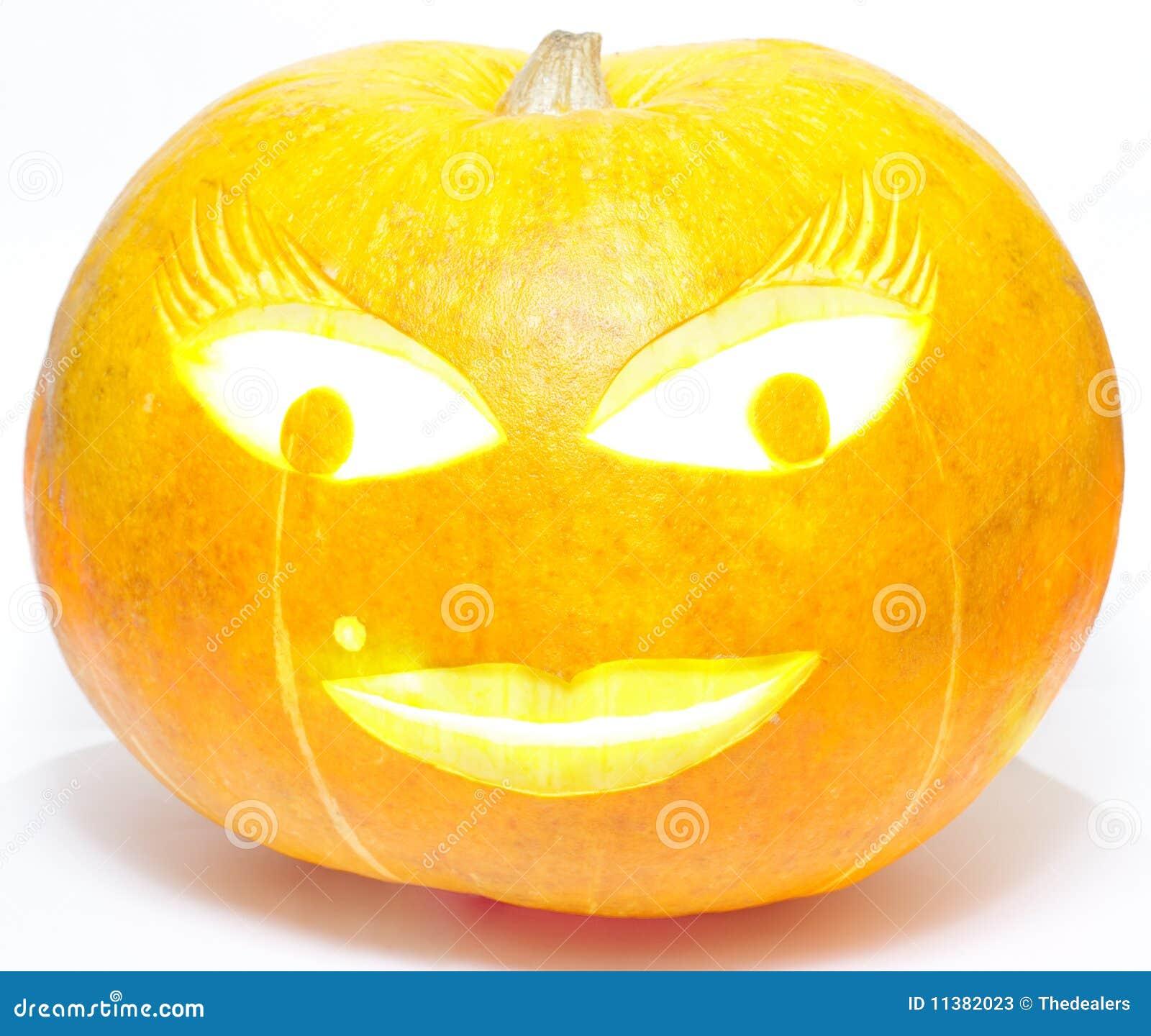 Abóbora da senhora Halloween