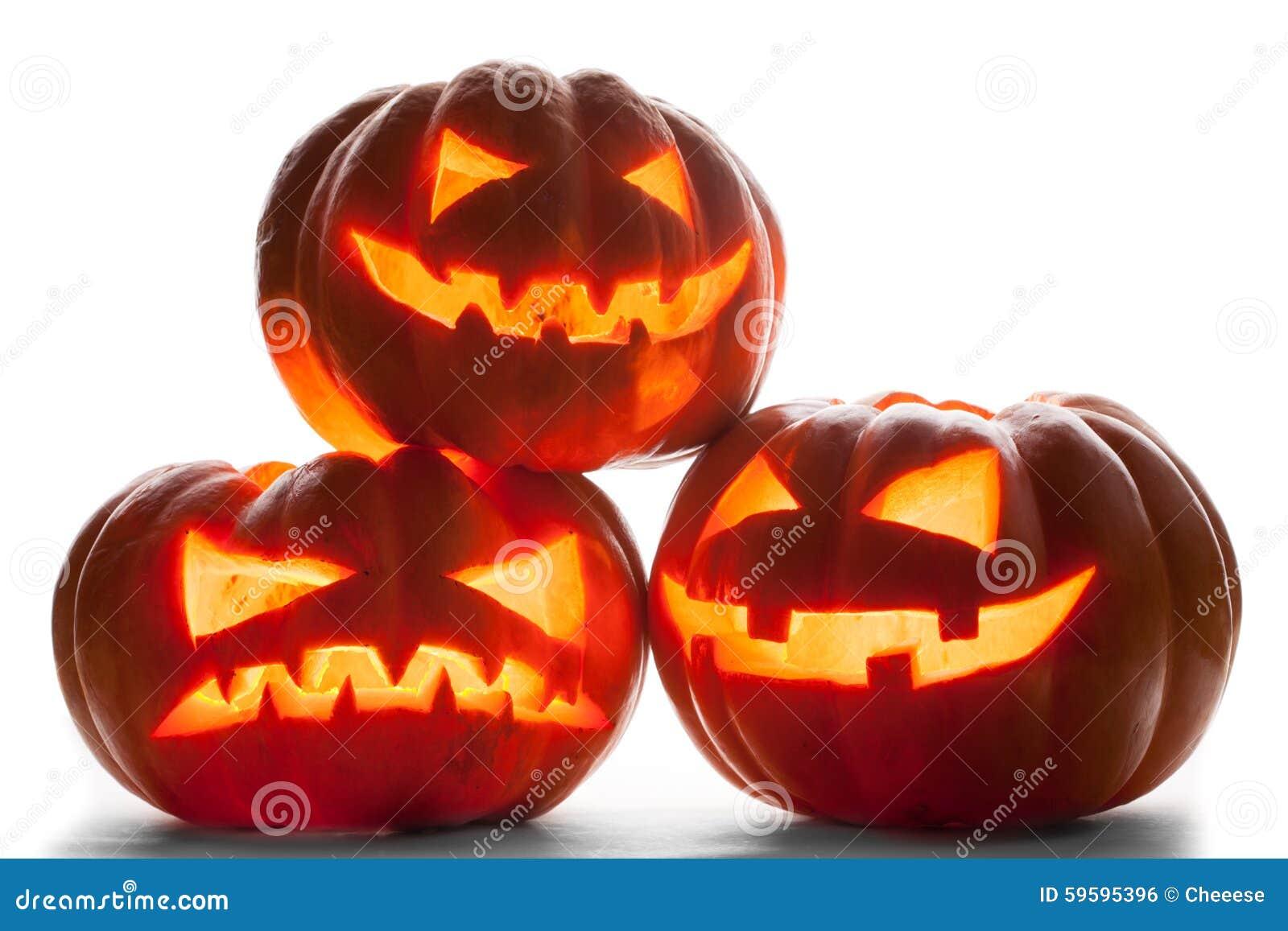 Abóbora de Halloween isolada no fundo branco