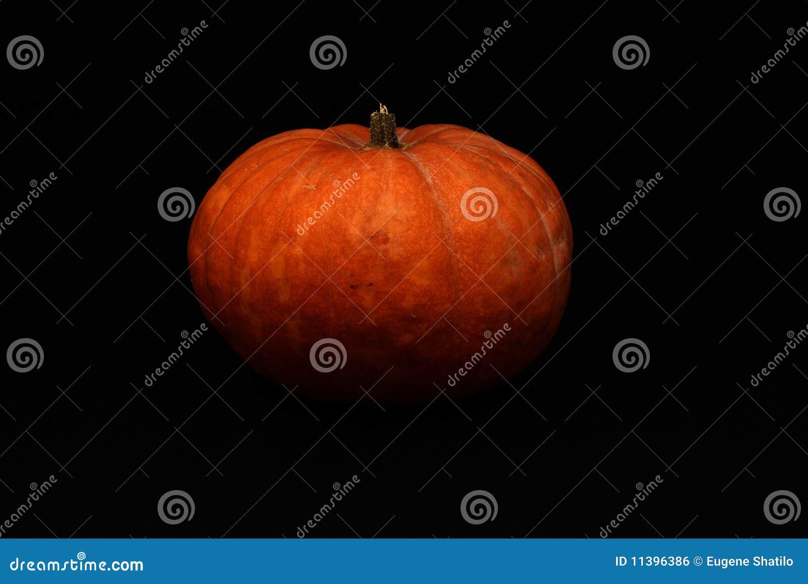 Abóbora de Halloween no fundo escuro