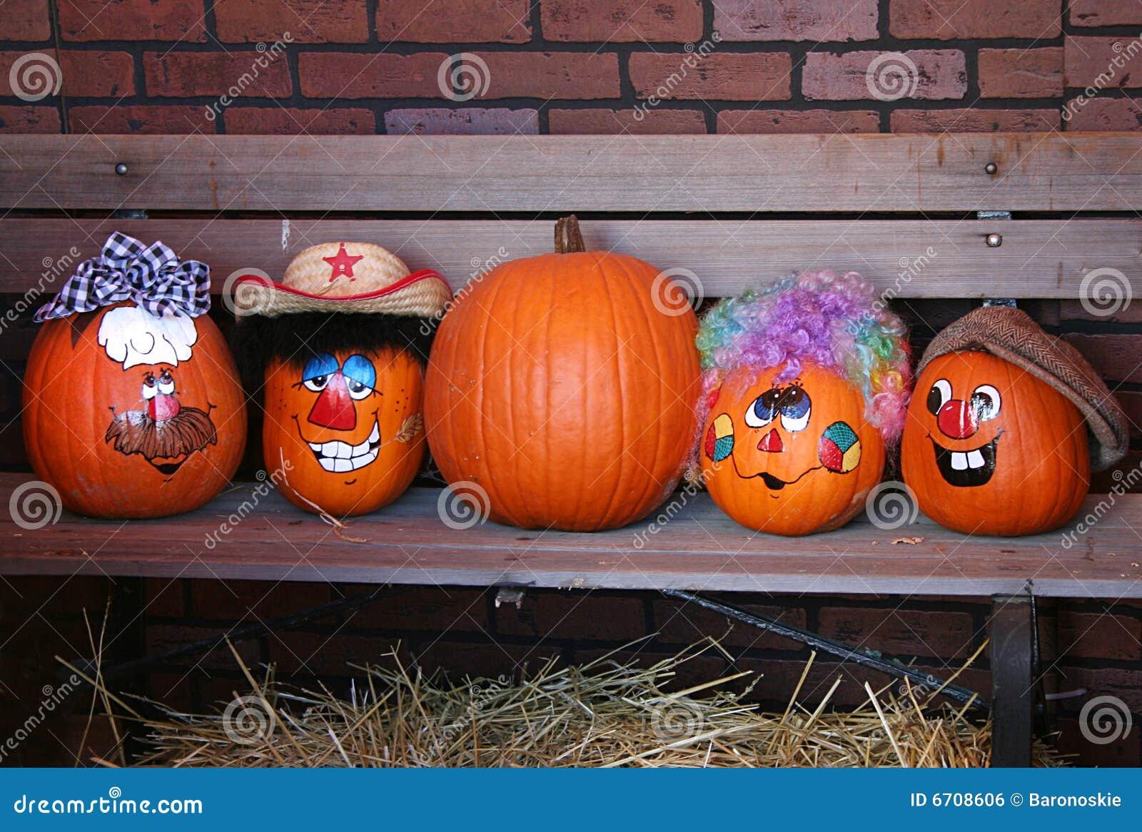 Abóboras decoradas de Halloween