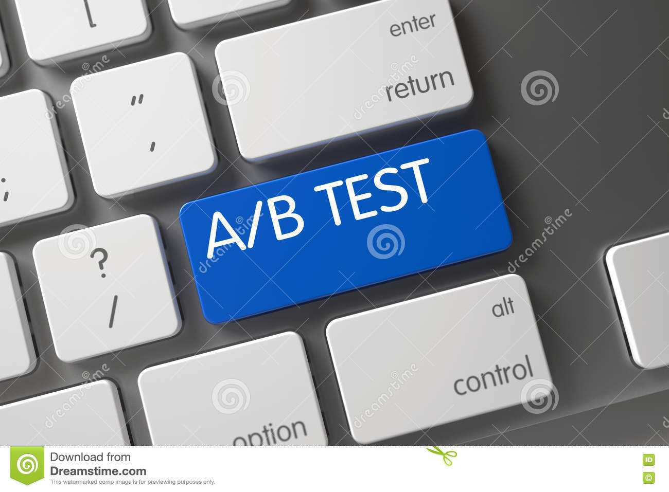 Ab Test Closeup Of Keyboard 3d Stock Photo Image Of Button Buyer 78362412