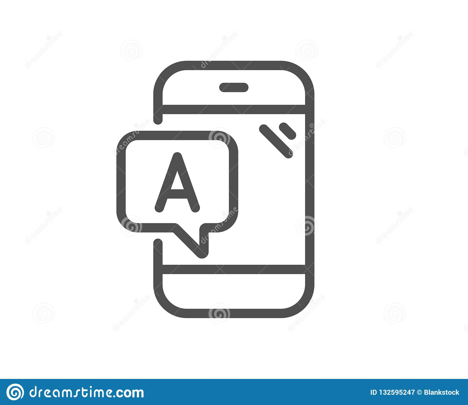 Ab Testing Line Icon  Ui Phone Test Sign  Vector Stock