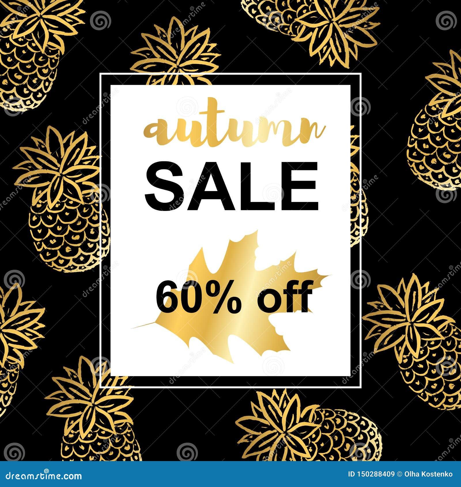 Abacaxis do ouro Molde de Autumn Sale