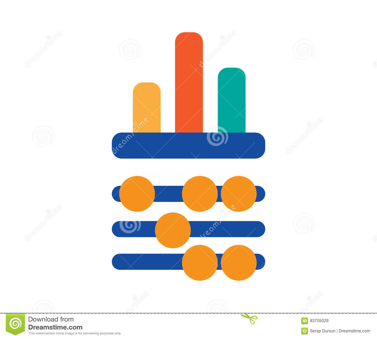 Abacus And Chart Design Stock Vector