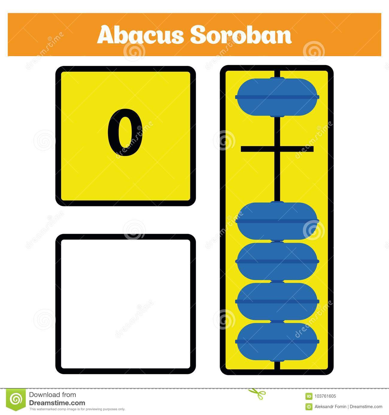 abacus soroban kids learn numbers with abacus math worksheet for  abacus soroban kids learn numbers with abacus math worksheet for children  vector illustration