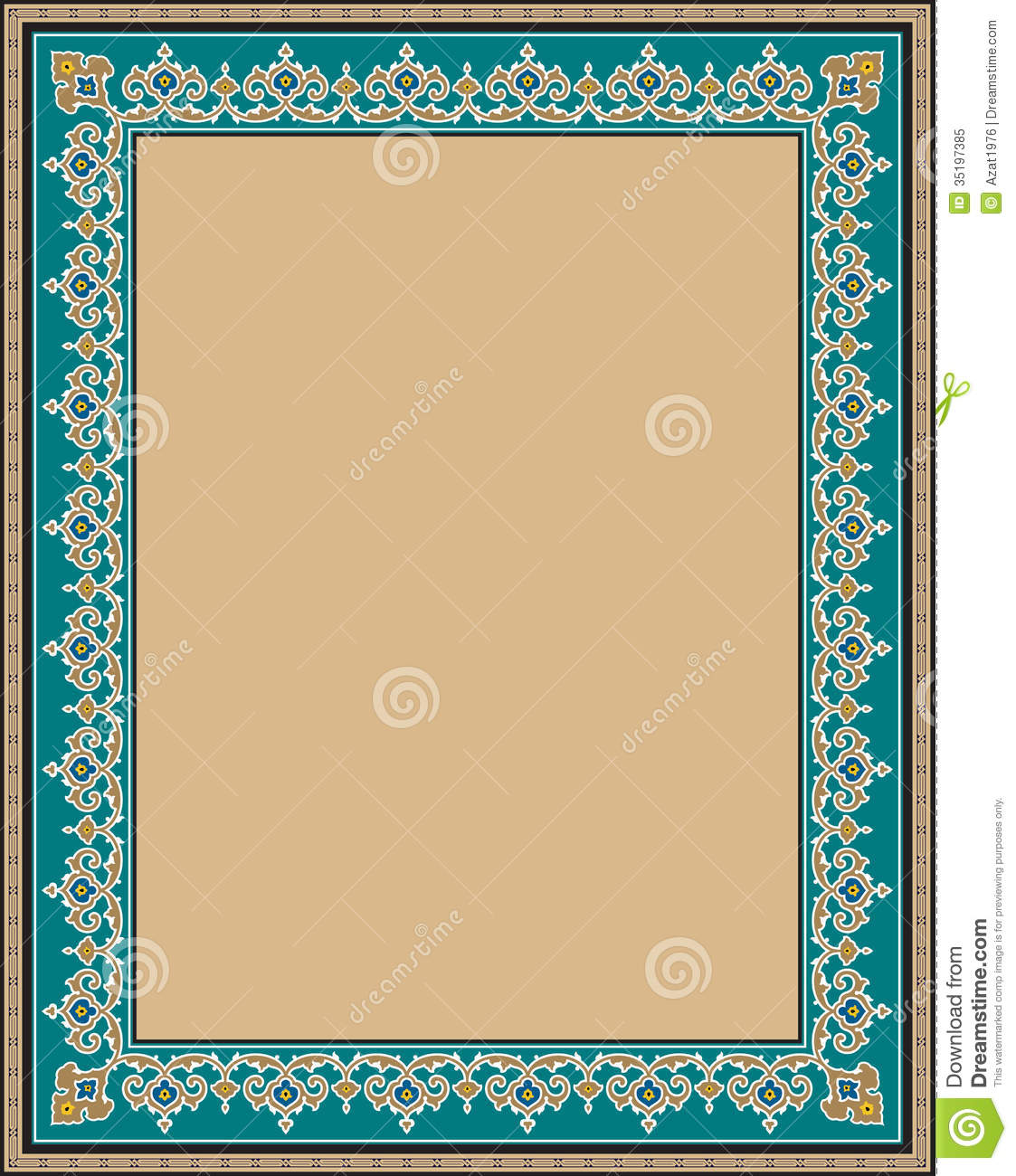 Abadan Arabic Frame Eight Royalty Free Stock Photo - Image: 35197385