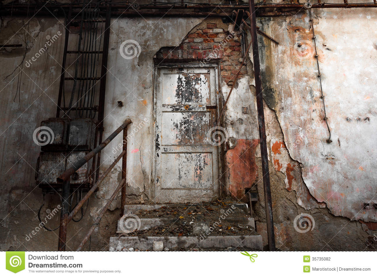 Abandon industrial interior stock photo image 35735082 for Interior door construction
