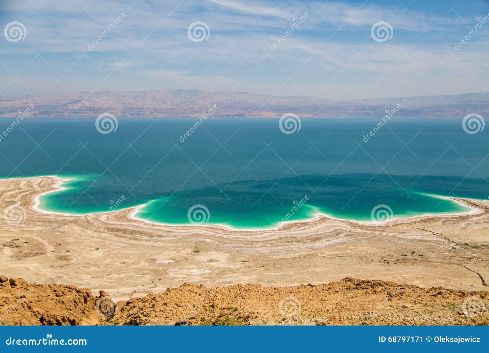 Abandone a paisagem de Israel, Mar Morto, Jordânia