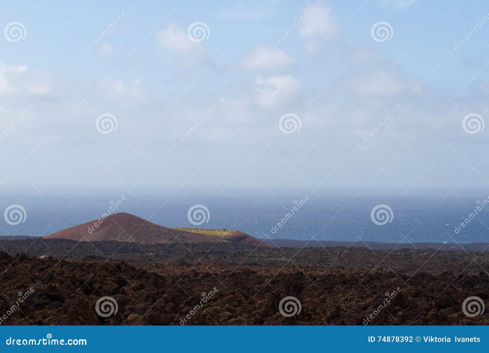 Abandone a paisagem vulcânica de pedra em Lanzarote, Ilhas Canárias