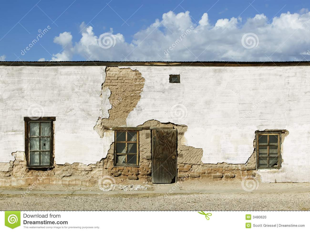 Abandoned adobe building stock photo image 3480620 for Building an adobe house