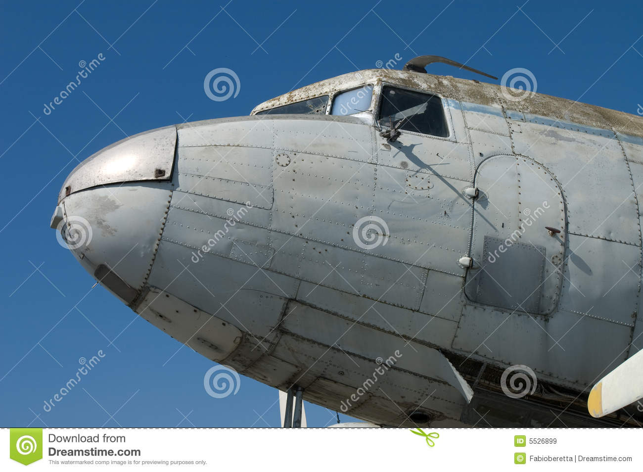 Abandoned Aircraft Details Royalty Free Stock Images