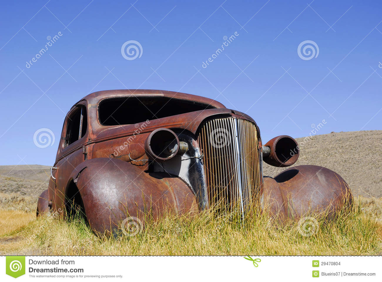 Abandoned Antique Car Stock Images - Image: 29470804