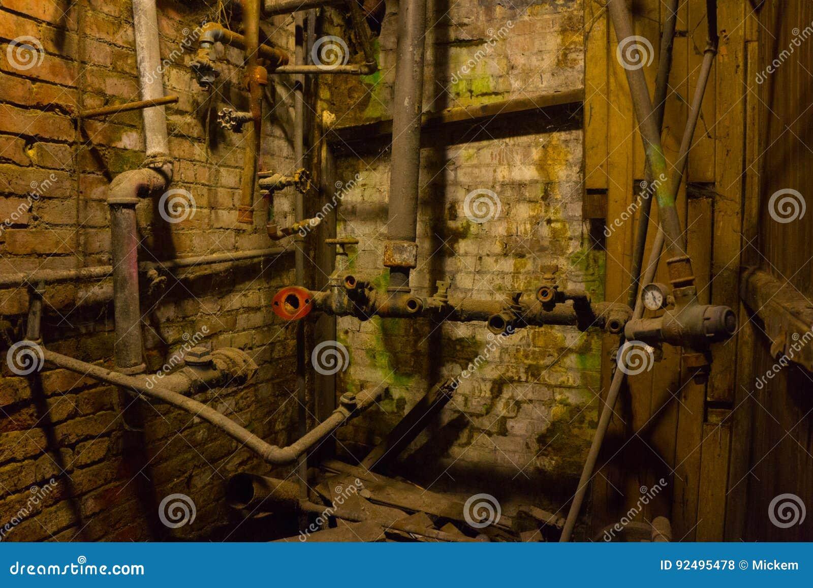 Abandoned Antique Plumbing stock photo. Image of equipment - 92495478