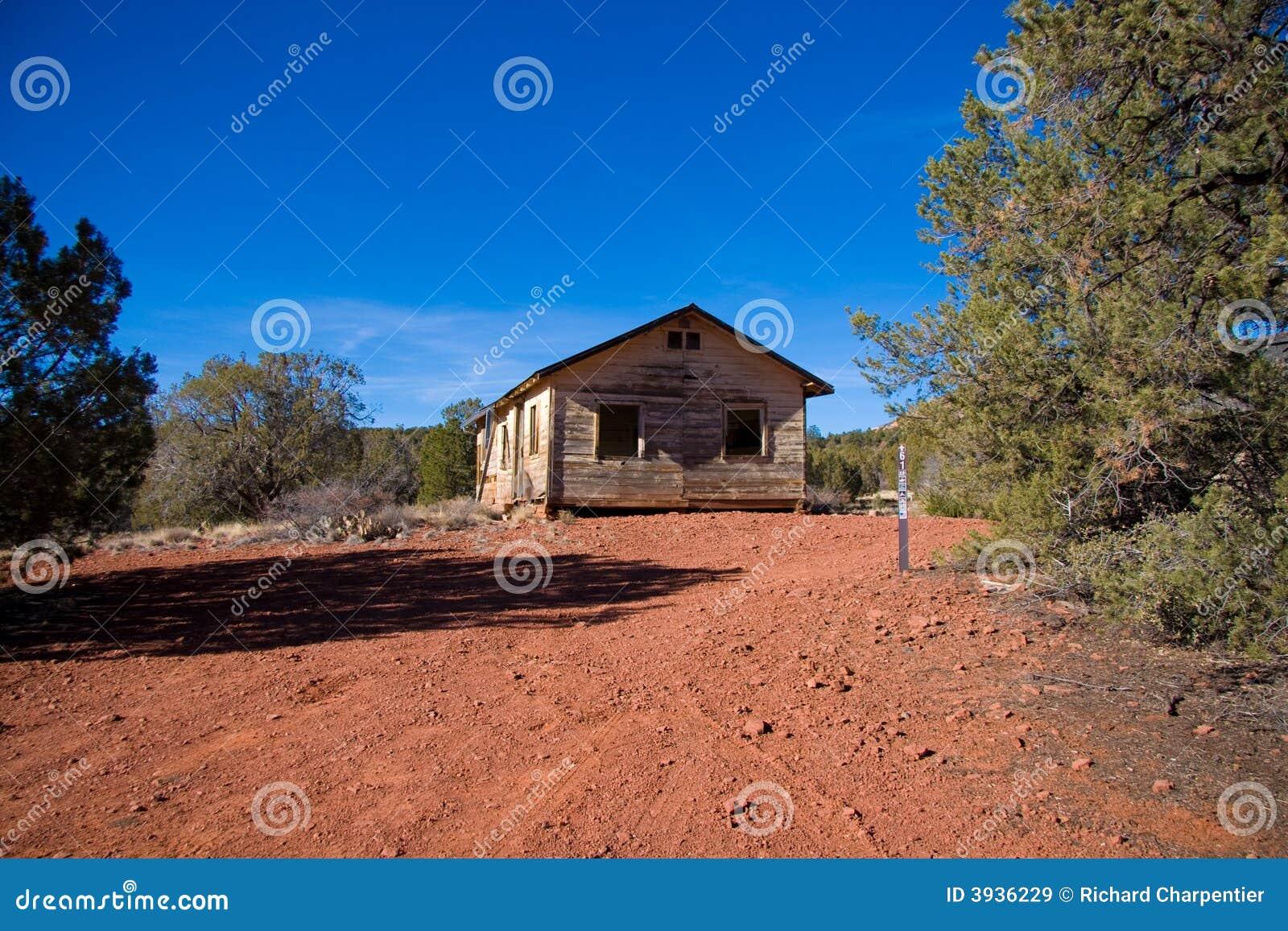 Abandoned Arizona Desert Cabin Royalty Free Stock Images
