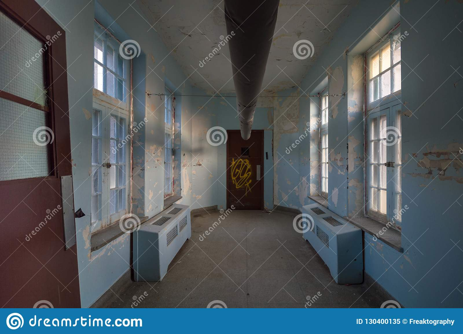 Abandoned Asylum For The Criminally Insane Urban Exploring Stock Image Image Of Freaktography Mental 130400135