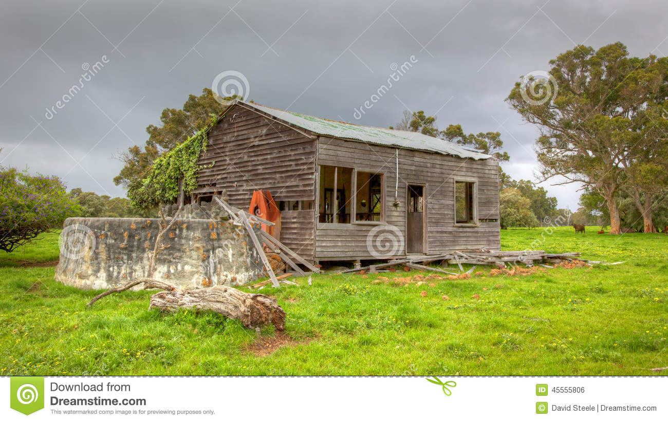 Abandoned australian homestead stock photo image 45555806 for Landscapers adelaide western suburbs