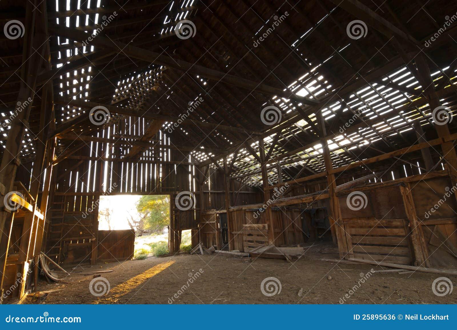 Abandoned Barn Inside Royalty Free Stock Image Image