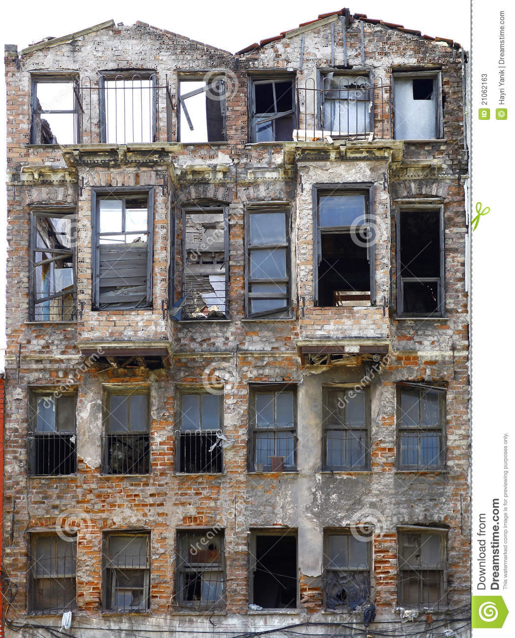 Abandoned Brick Building Stock Image. Image Of Decayed