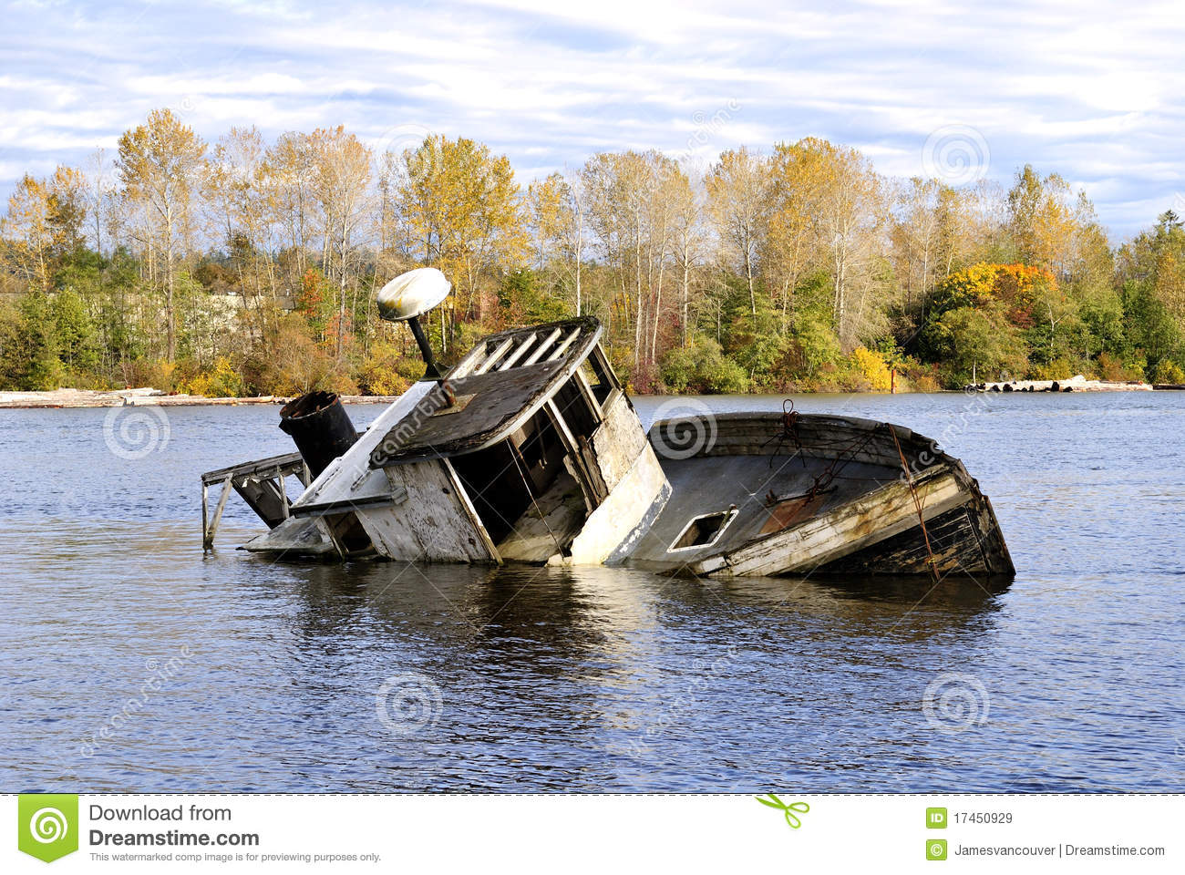 Abandoned Broken Boat Royalty Free Stock Images - Image: 17450929