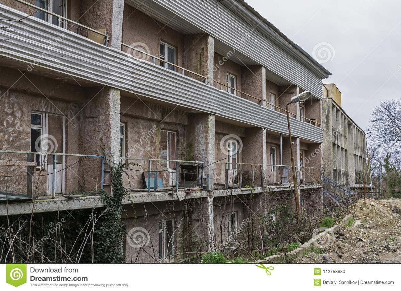 The abandoned building
