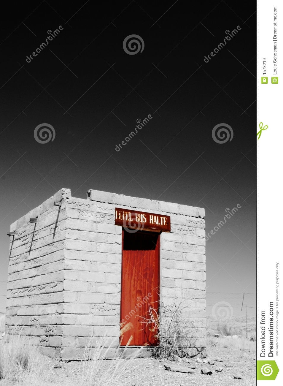 Download Abandoned Bus Stop In Namib Desert, Namibia Stock Image - Image of stop, death: 1578219