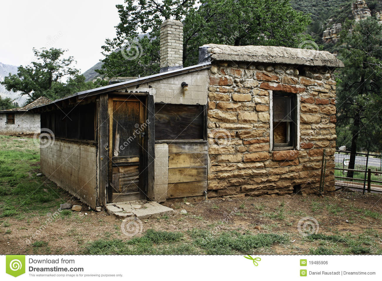 Abandoned Cabin In Arizona State Park Royalty Free Stock
