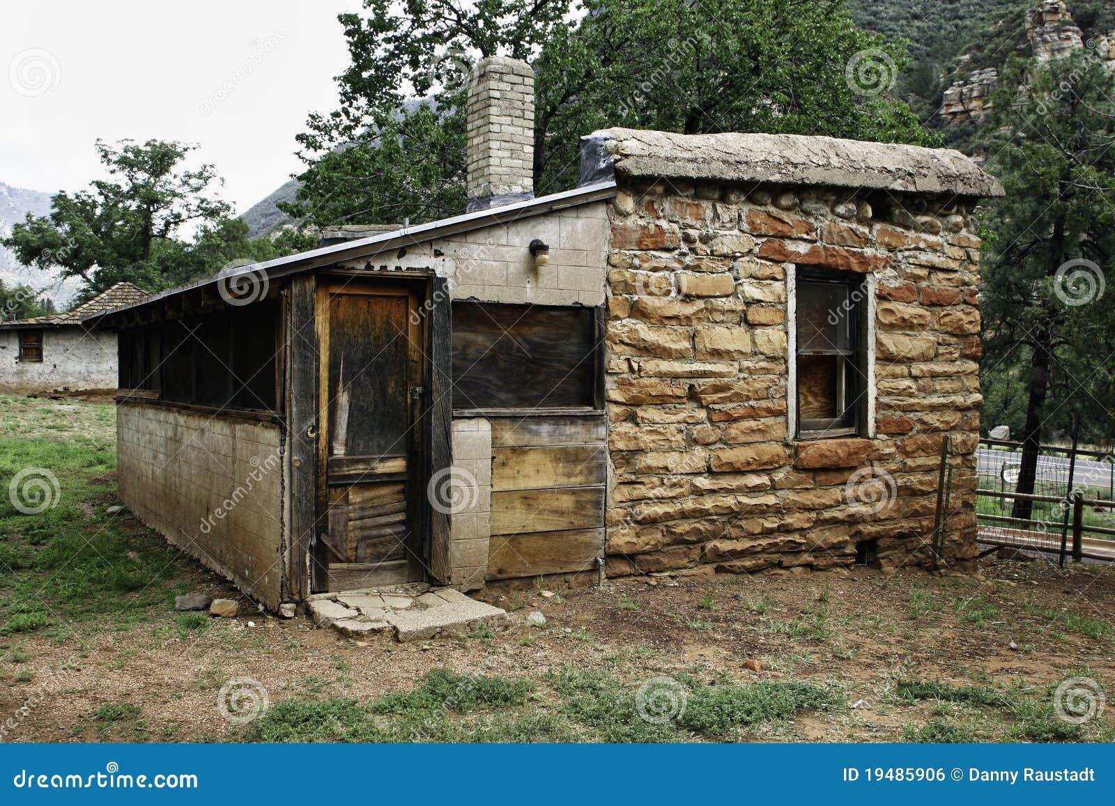 Abandoned Cabin In Arizona State Park Stock Photo Image