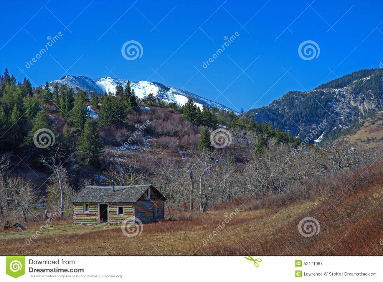 Abandoned Cabin Near Heart Butte, MT In The Lewis And Clark National ...