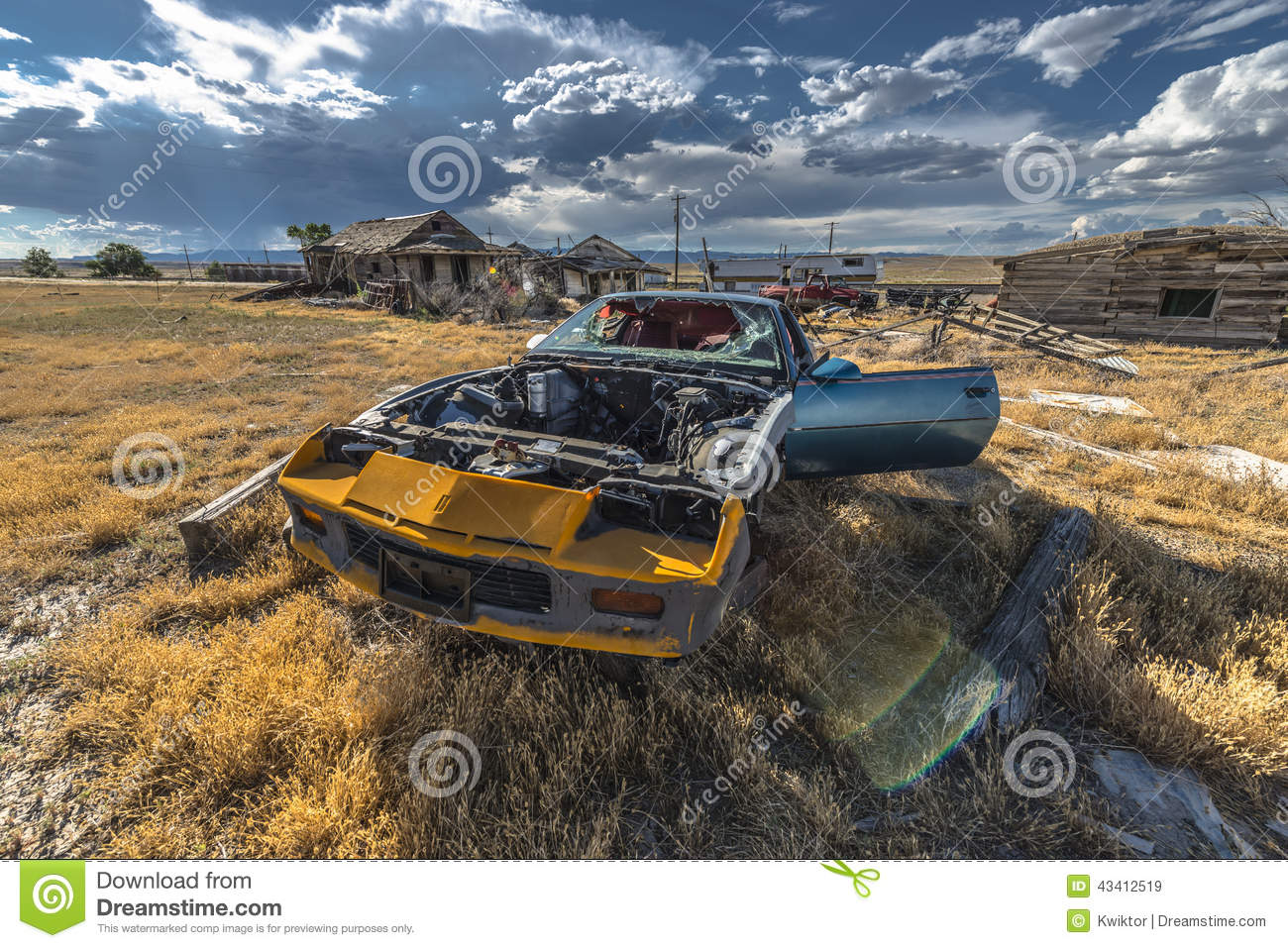 Abandoned Car Ghost Town Stock Photo Image 43412519
