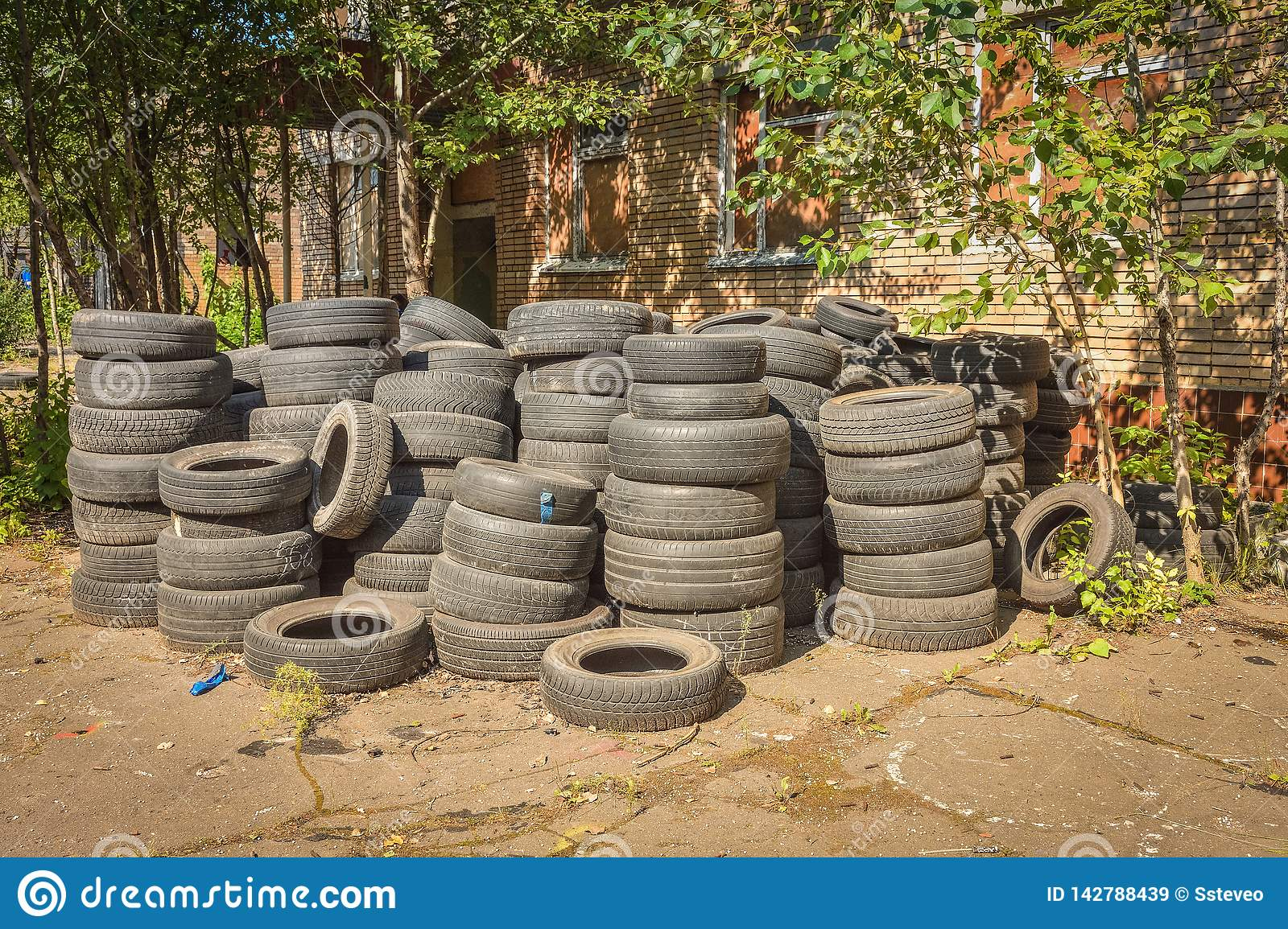 Abandoned car tires