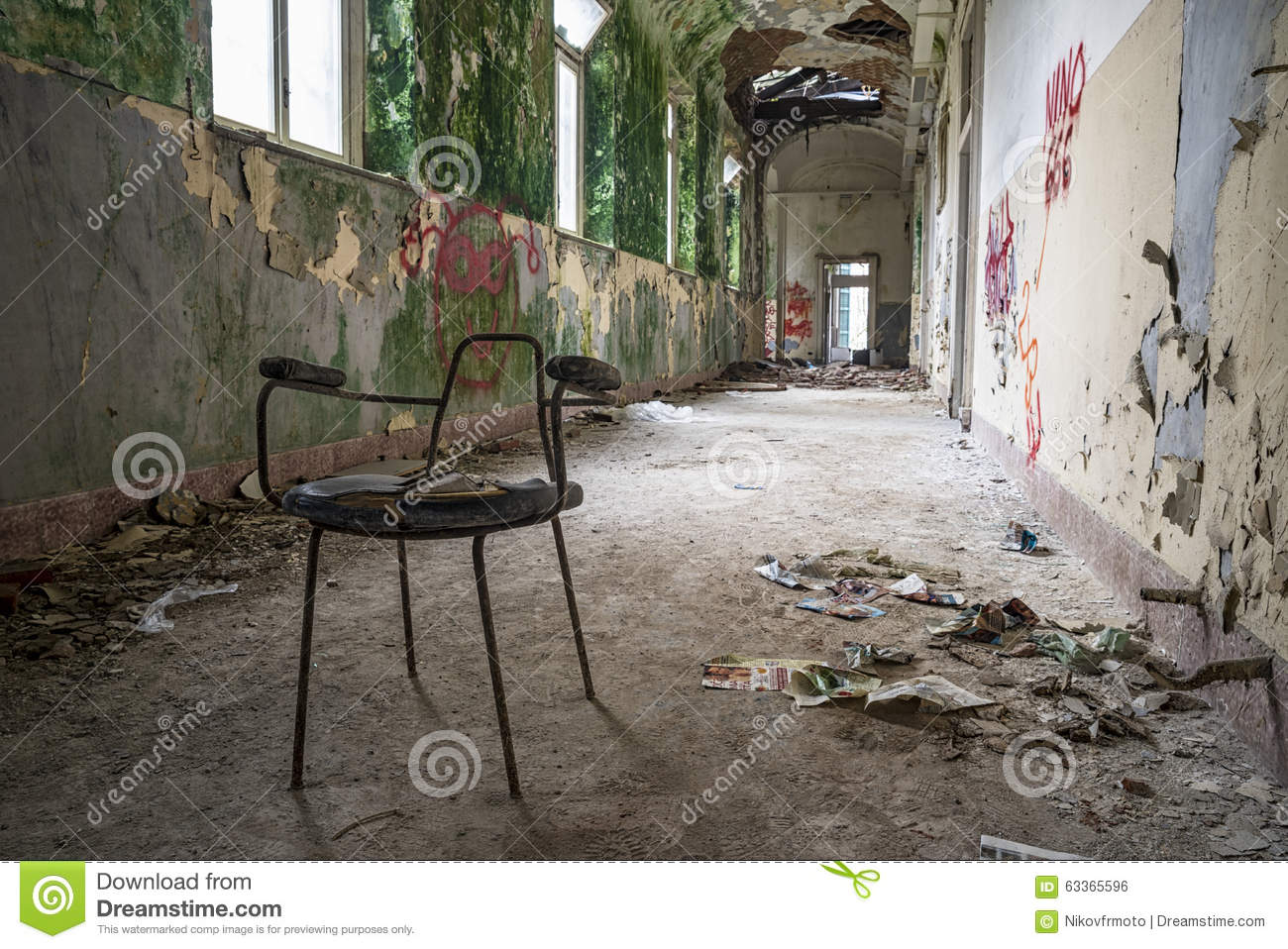 Old Furniture In Abandoned Hospital Royalty-Free Stock ...